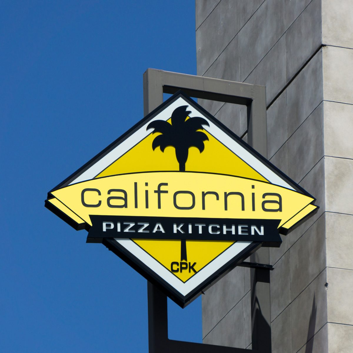 California Pizza Kitchen sign and logo.