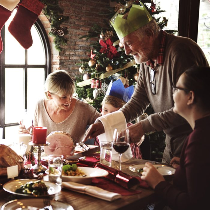 Family Together Christmas Celebration
