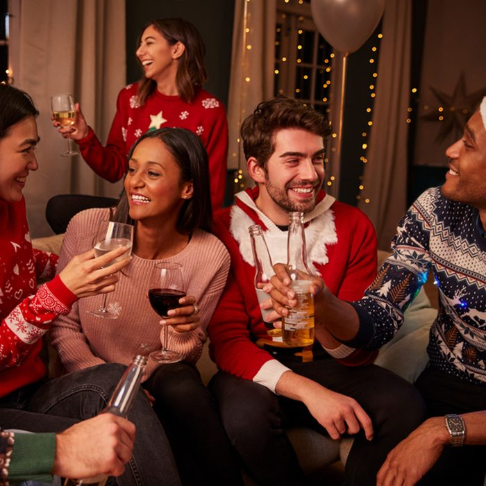 Friends In Festive Jumpers Celebrate At Christmas Party; Shutterstock ID 623112506; Job (TFH, TOH, RD, BNB, CWM, CM): TOH