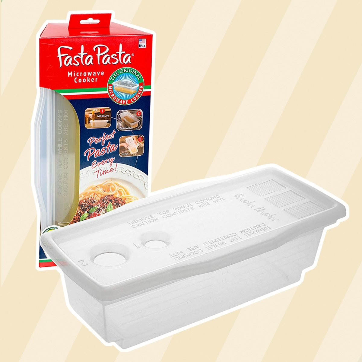 Microwave Pasta Cooker The Original Fasta No Mess Sticking Or Waiting For