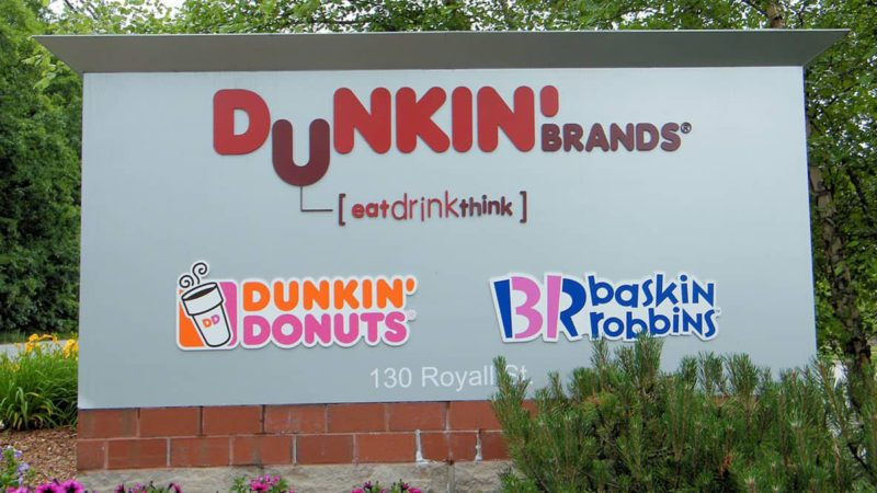 Dunkin' and Baskin Robins sign