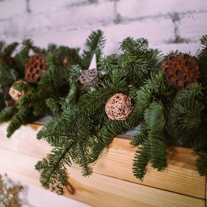 Christmas garland of pine branches.; Shutterstock ID 1218796891; Job (TFH, TOH, RD, BNB, CWM, CM): TOH