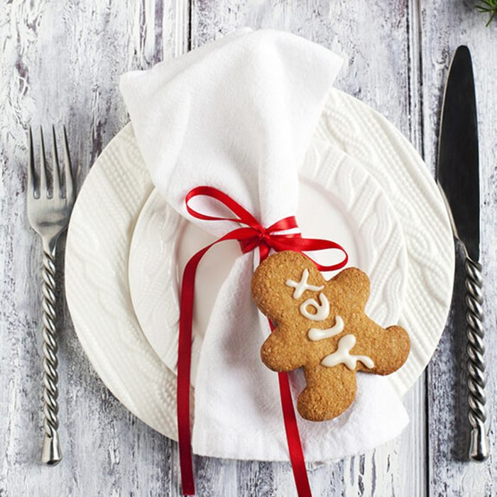 Gingerbread place markers