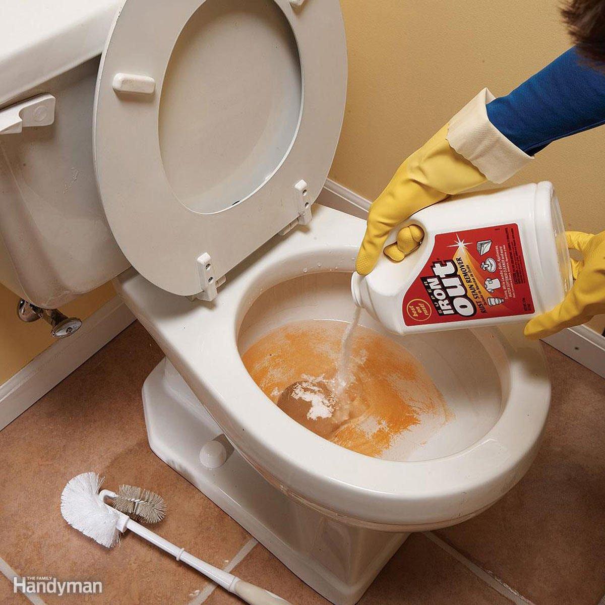 Iron-out toilet