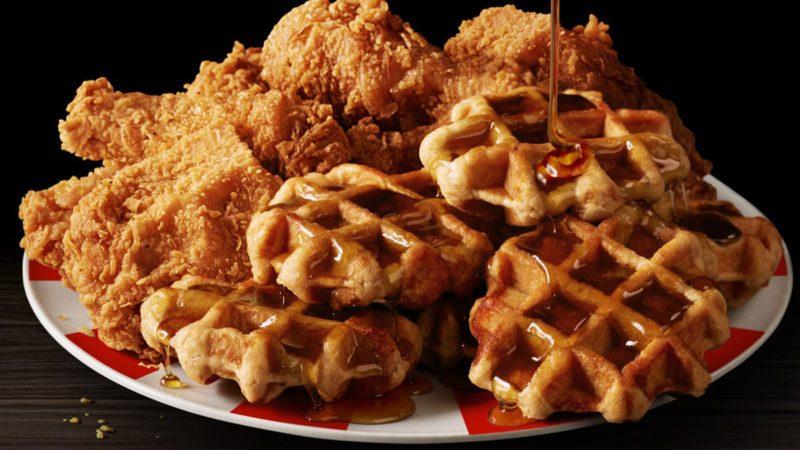 KFC chicken and waffles