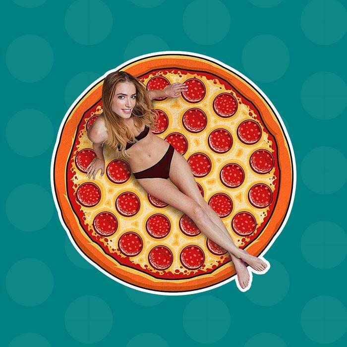 BigMouth Inc BGMBT-PI Gigantic Pizza Beach Blanket, OS
