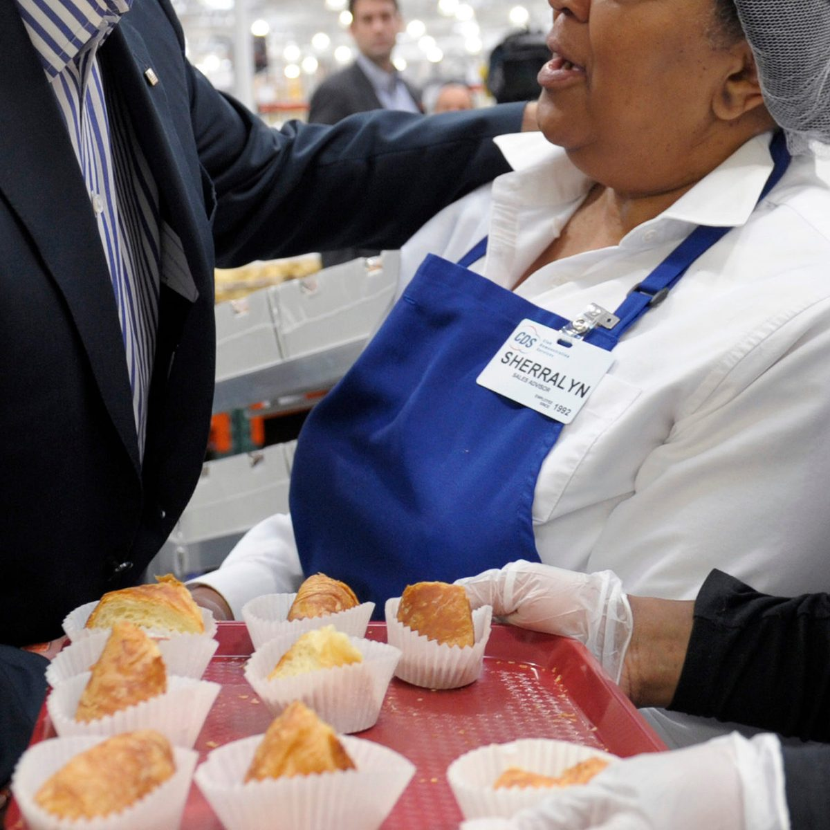 Joe Biden Vice President Joe Biden talks with Costco employees in the bakery section of the store while shopping at a Costco in Washington