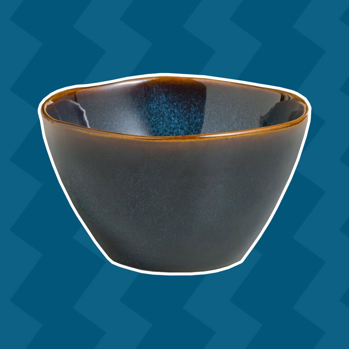 Indigo Organic Reactive Glaze Bowls, Set Of 2