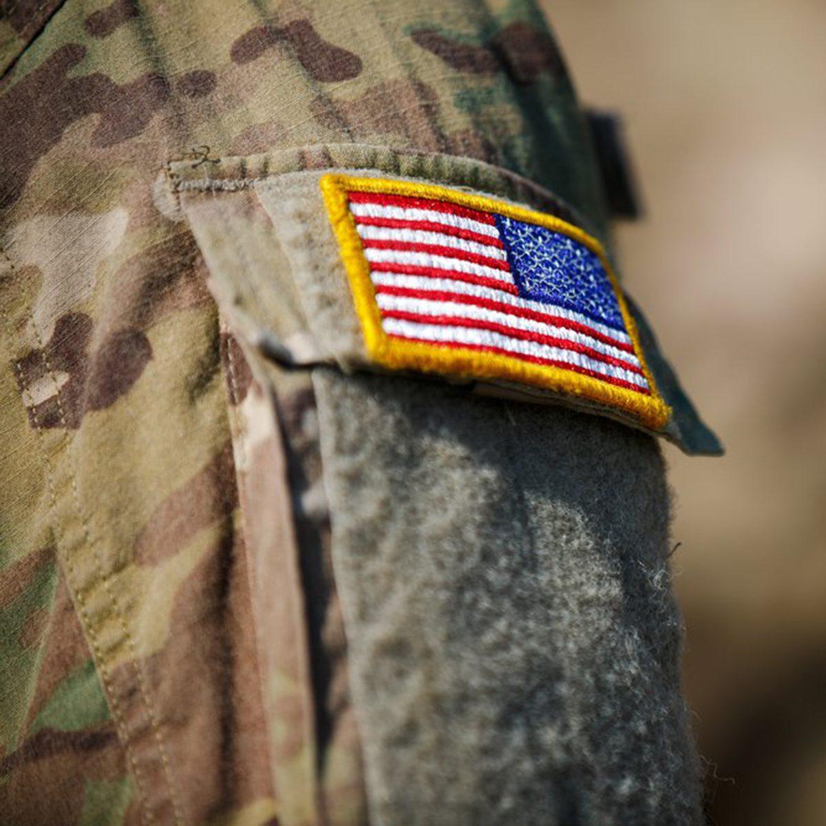 Veteran flag army