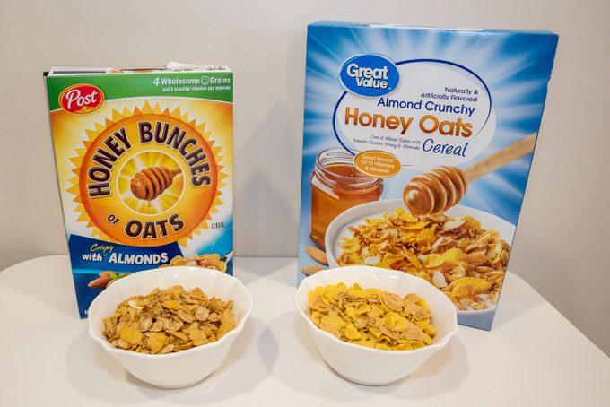 honey bunches of oats name brand vs generic taste test