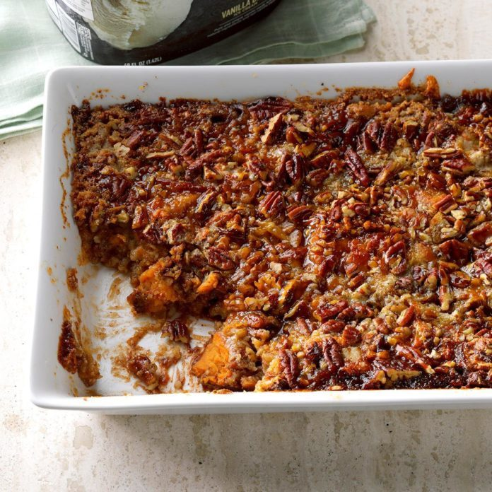 Apple-Sweet Potato Pecan Dump Cake