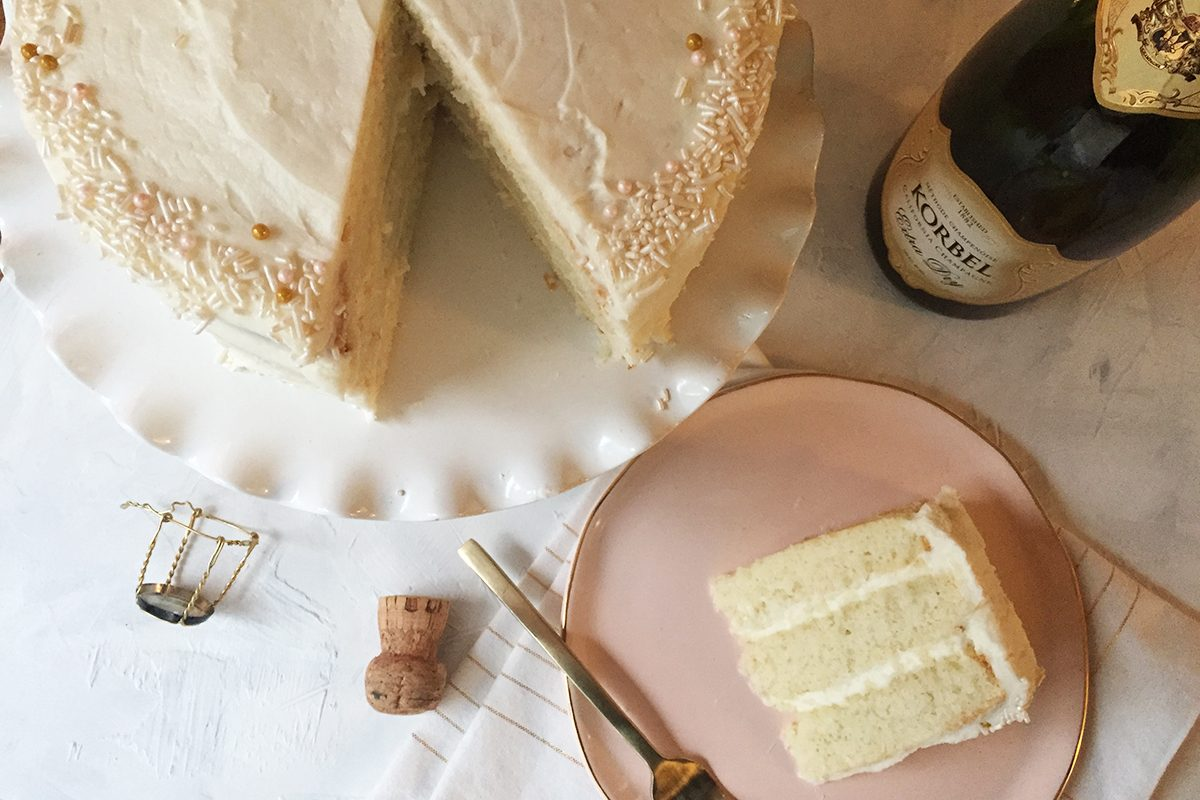 This Delicious Cake Starts By Popping Open a Bottle of Bubbly