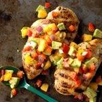 Chicken with Peach-Avocado Salsa