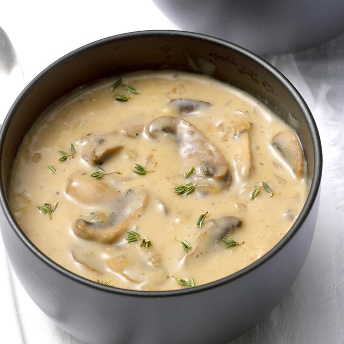 Dairy Free Cream Of Mushroom Soup Recipe How To Make It Taste Of Home