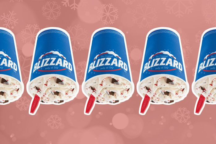 dairy queen candy cane chill blizzard