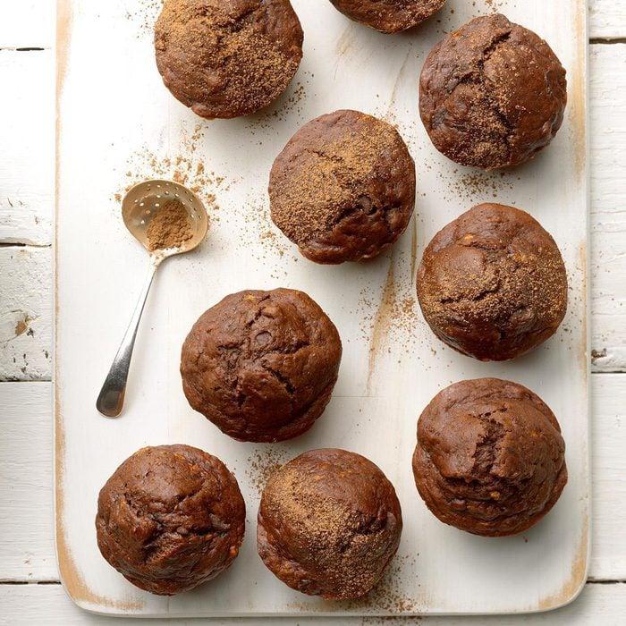 Egg Free Double Chocolate Banana Muffins  Exps Thfm19 206331 B10 02 10b