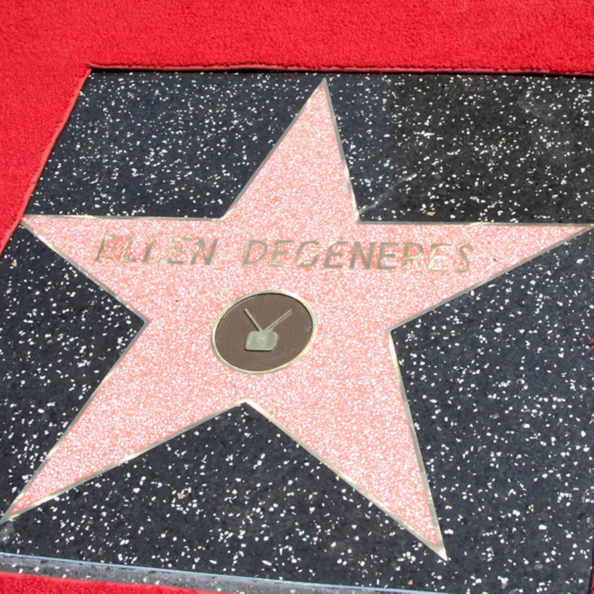 Ellen DeGeneres Star at the Hollywood Walk of Fame Ceremony for Ellen Degeneres at W Hollywood on September 4, 2012 in Los Angeles, CA