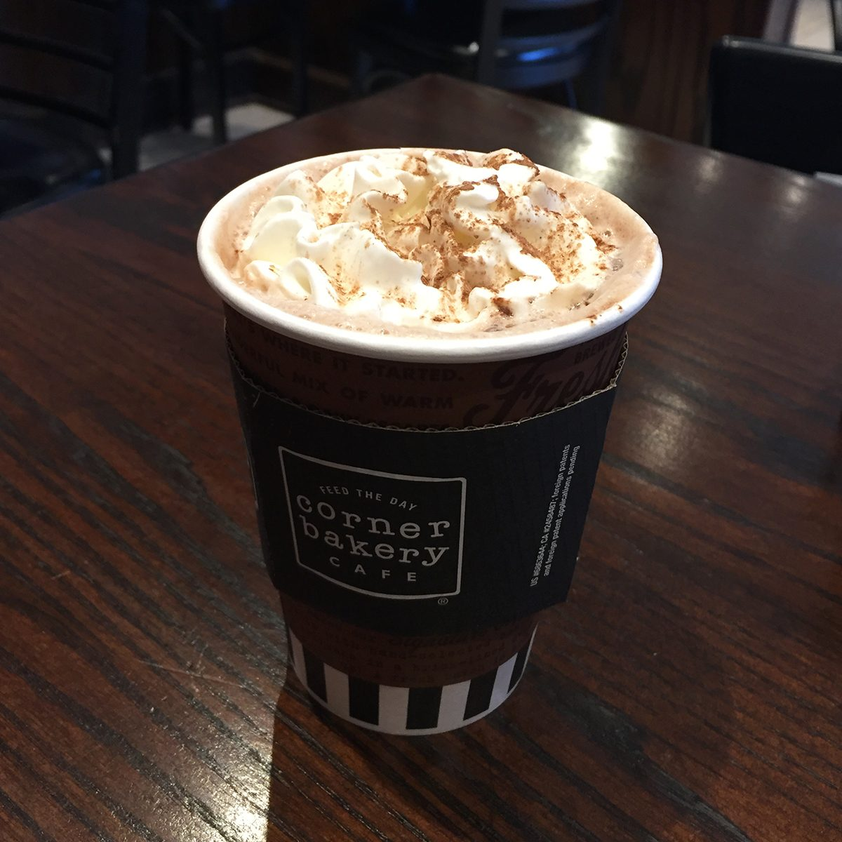 Corner Bakery hot chocolate