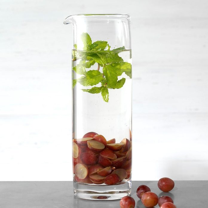 Grape and Mint Infused Water