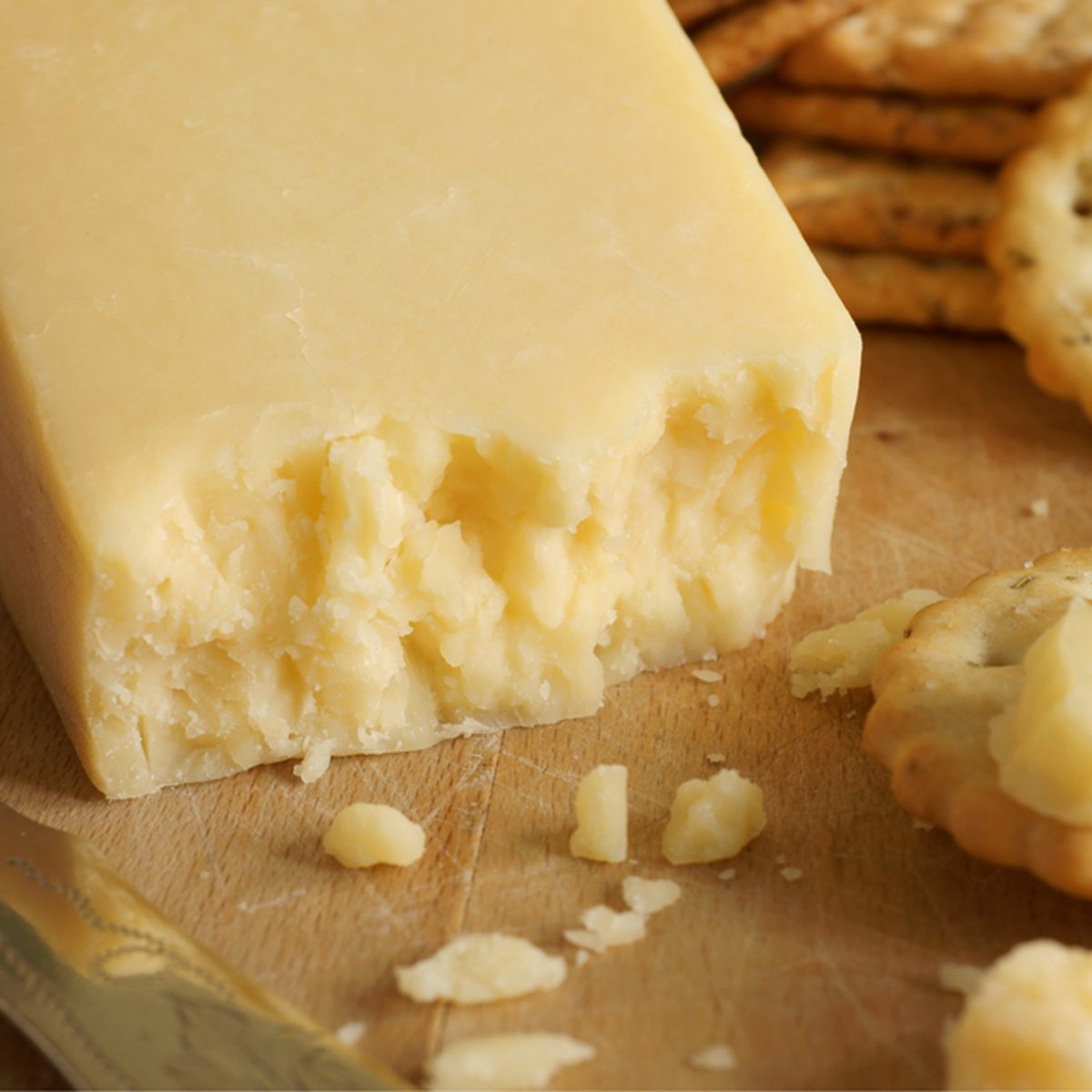 Lancashire a traditional English cheese from the county of Lancashire