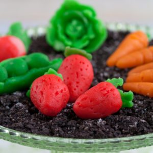 Making Marzipan Candy Vegetable Garnishes