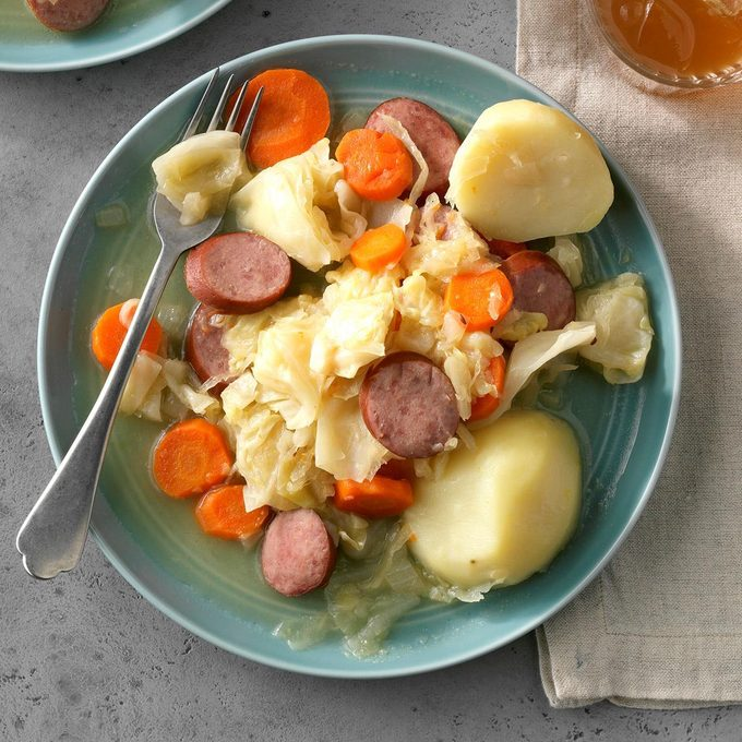 Pressure-Cooker Kielbasa and Cabbage