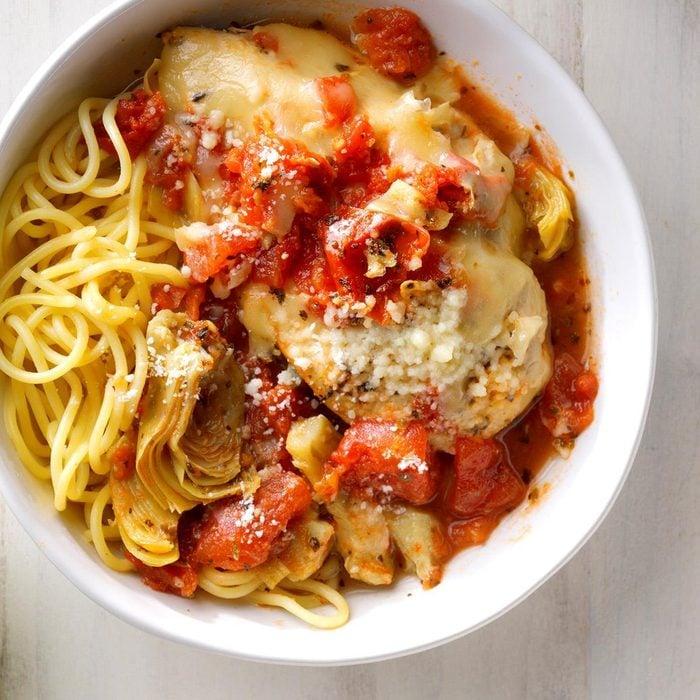 Pressure-Cooker Saucy Italian Chicken