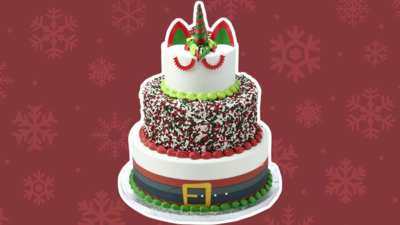 Amazing Sams Club Now Has A Three Tier Santa Unicorn Cake Taste Of Home Personalised Birthday Cards Paralily Jamesorg