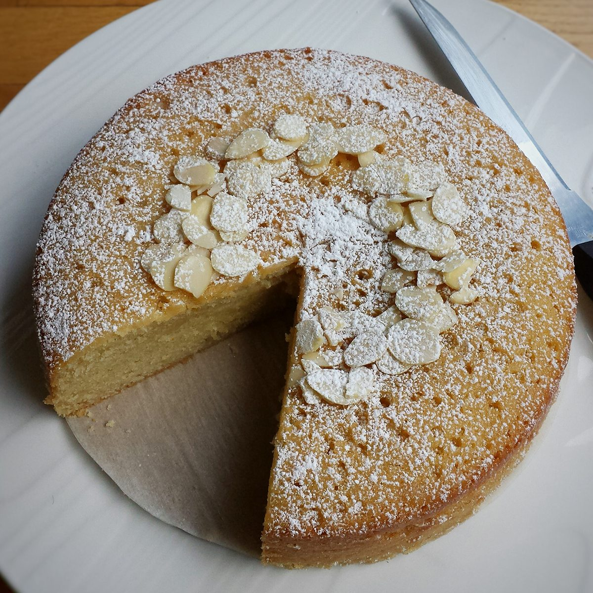 Simple Marzipan Cake