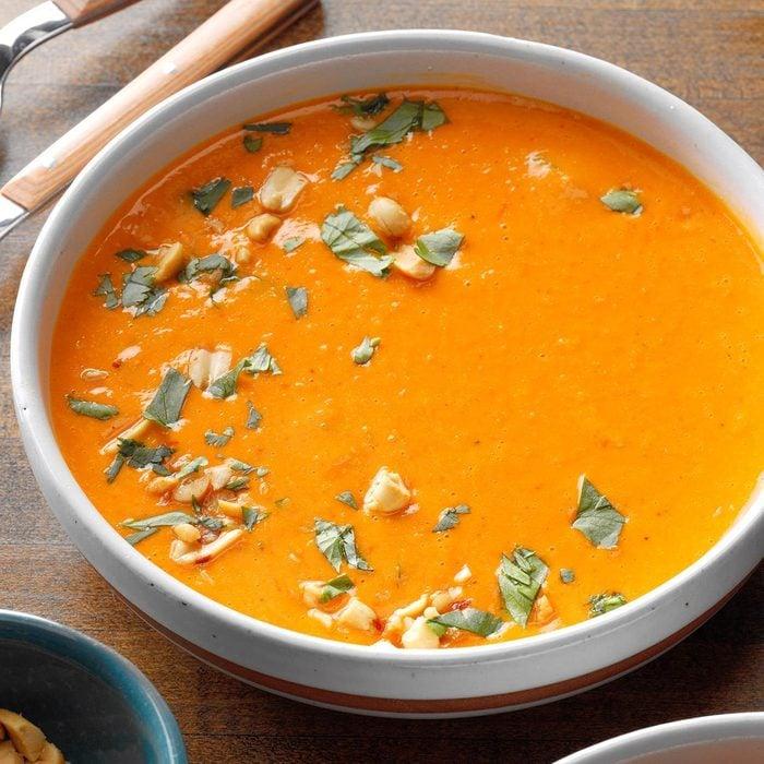 Day 29: Slow-Cooker Thai Butternut Squash Peanut Soup
