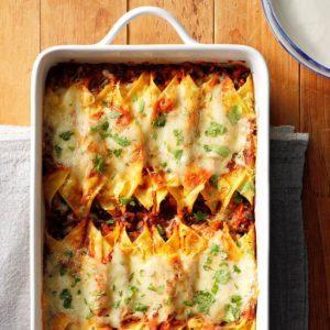 Smoky Sweet Potato and Black Bean Enchiladas