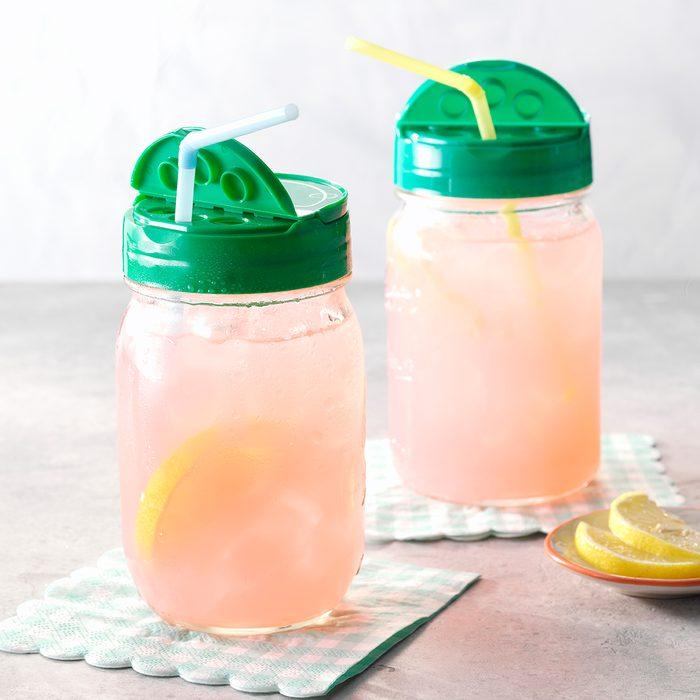Parm Cheese Lid on Mason Jar Liquid