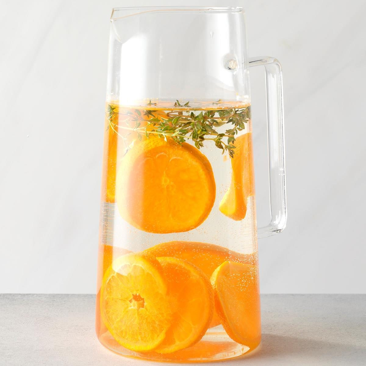 Tangerine and Thyme Infused Water