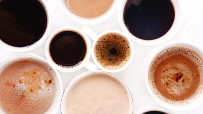 Different cups of coffee