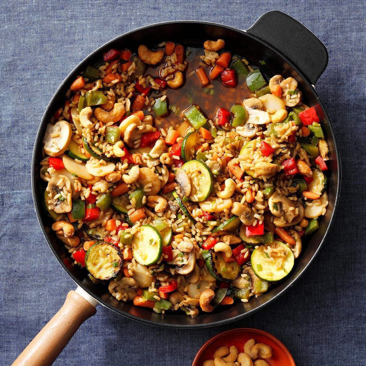 Vegan Veggie-Cashew Stir-Fry