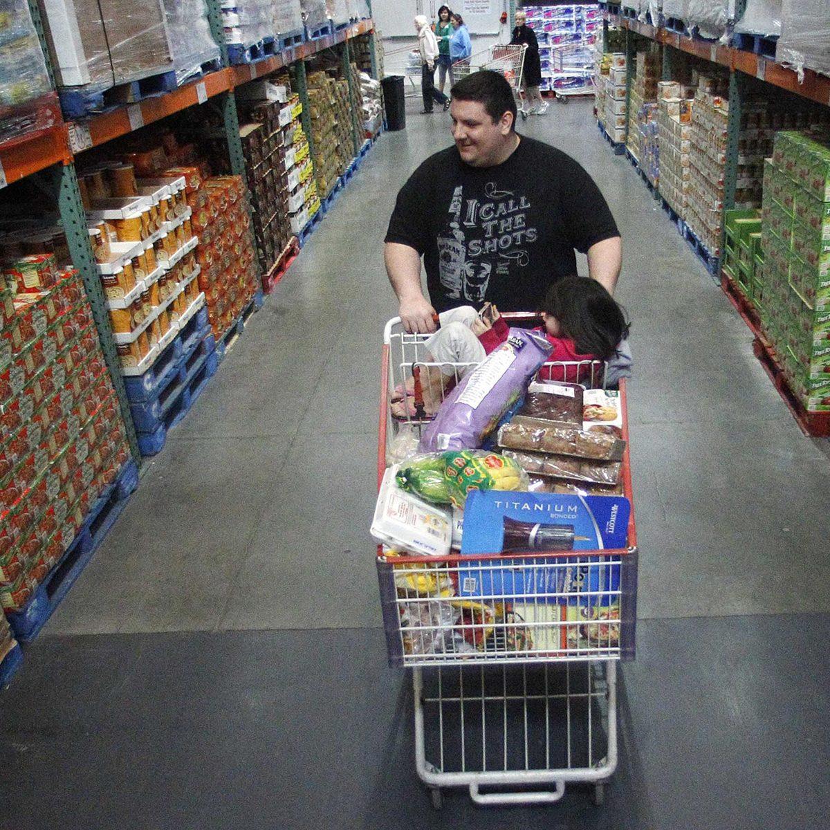 Browsing Costco aisles