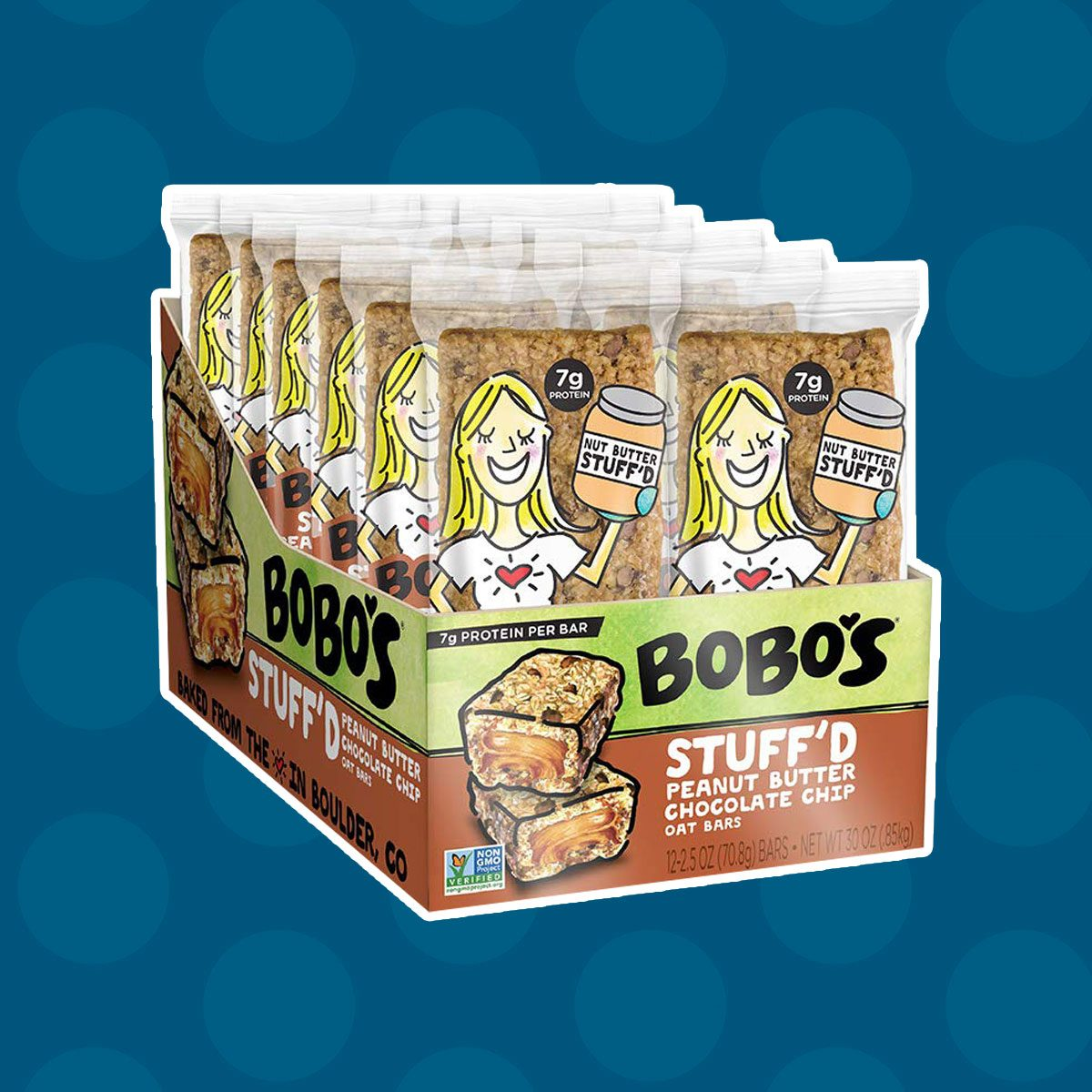 Bobo's Oat Stuff'd Bars, Chocolate Chip Peanut Butter