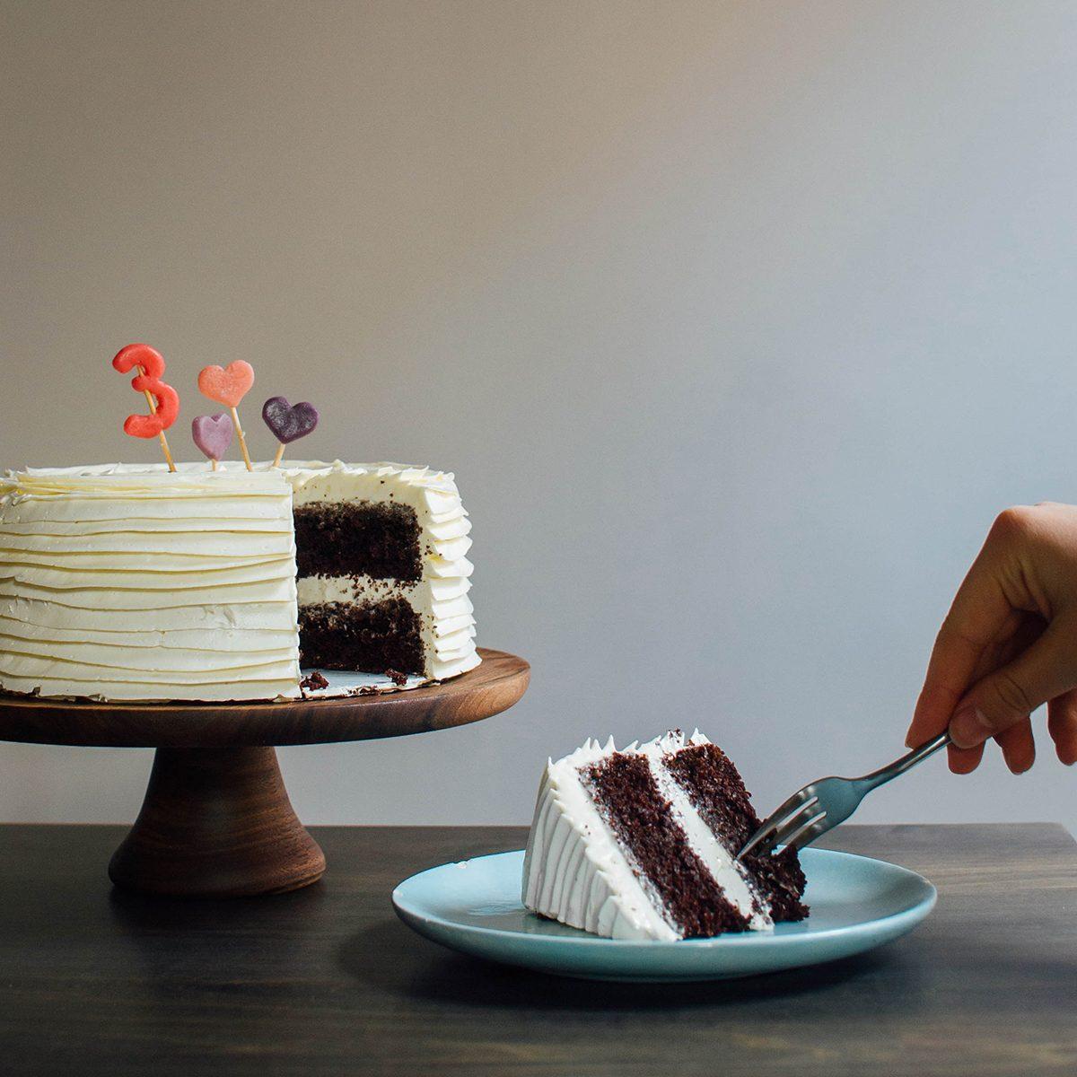 Chocolate marzipan cake