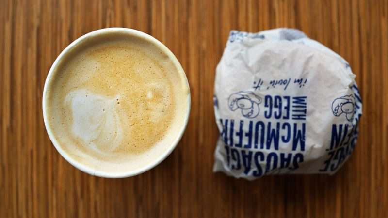 Egg McMuffin and coffee