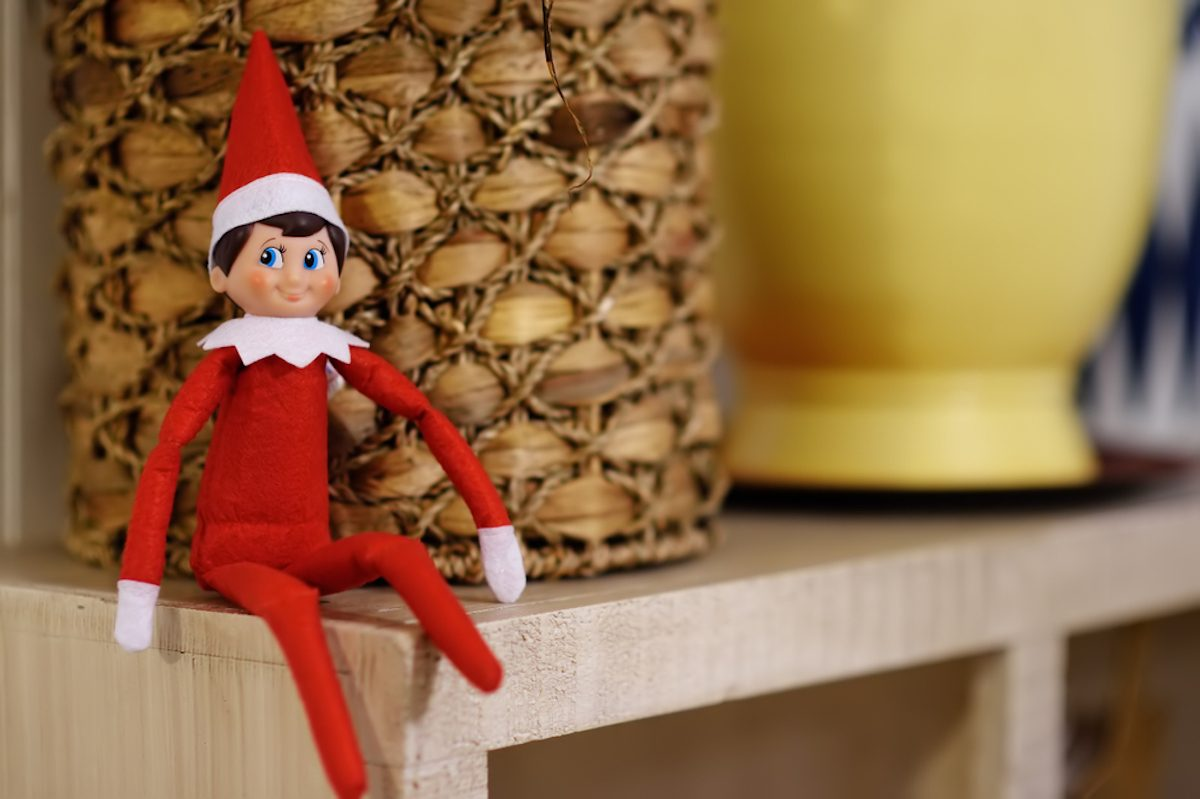 f855510e128fb Funny Christmas toy elf on shelf. American christmas traditions. Xmas  activities for family with