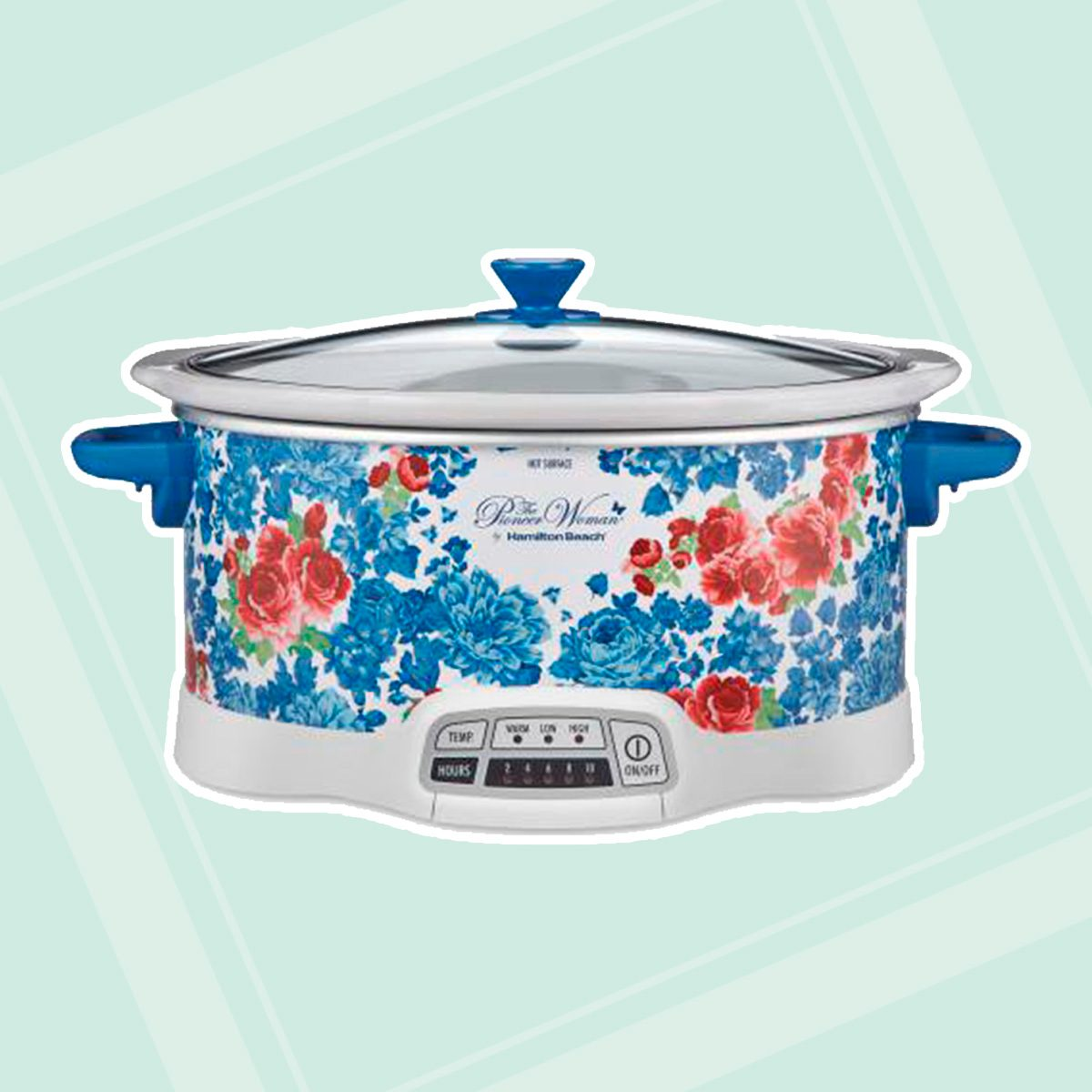 The Pioneer Woman Frontier Rose 7-Quart Programmable Slow Cooker