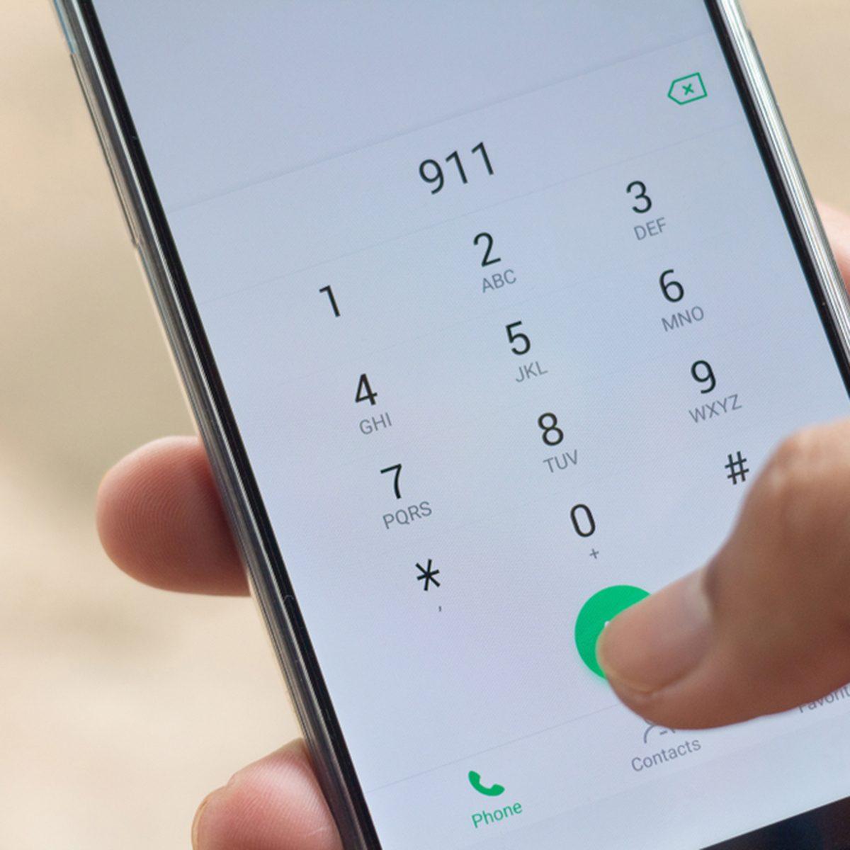 Emergency and urgency, dialing 911 on smartphone screen.; Shutterstock ID 1167521353; Job (TFH, TOH, RD, BNB, CWM, CM): TOH