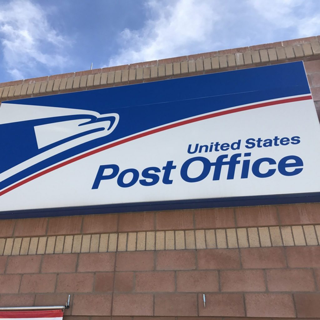 SCOTTSDALE, AZ - MAY 25: Exterior signage on the front of the United States Post Office building in Scottsdale, Arizona on May 25, 2017.; Shutterstock ID 647502277; Job (TFH, TOH, RD, BNB, CWM, CM): TOH