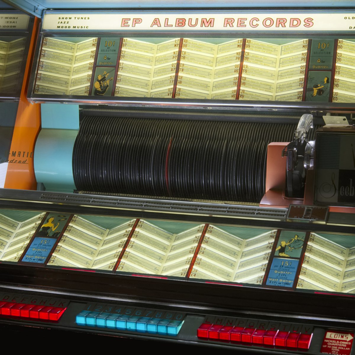 London, England - December 27th 2017: Jukebox Vintage Retro Music Record Player Collection Exhibition; Shutterstock ID 783475357; Job (TFH, TOH, RD, BNB, CWM, CM): TOH
