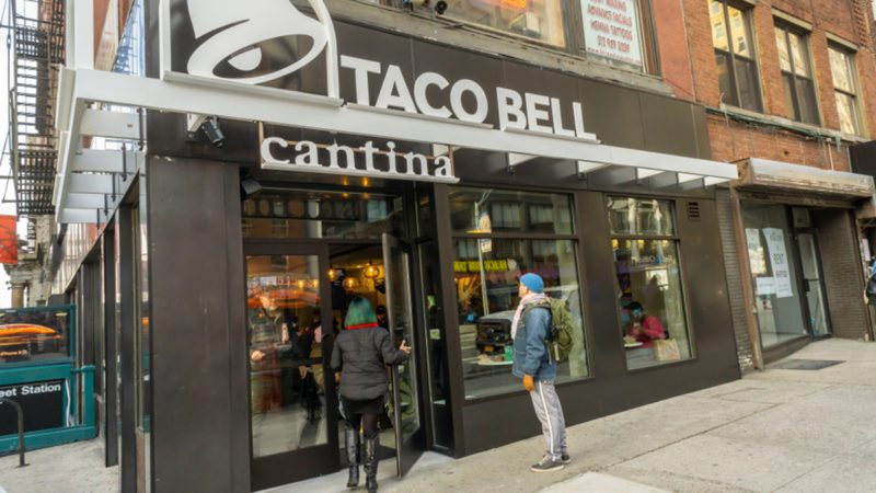 A spanking brand new Taco Bell Cantina franchise in the Chelsea neighborhood of New York