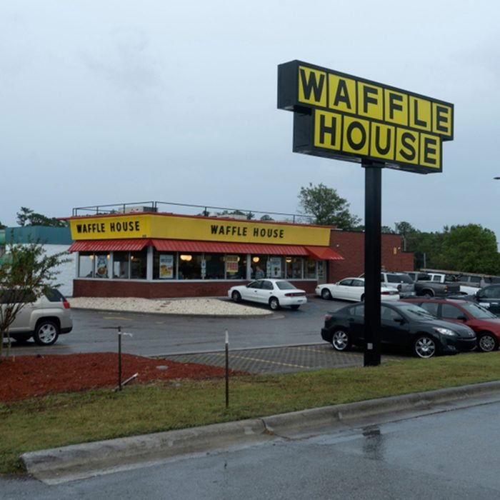 A Waffle House open during emergency evacuation just before Hurricane Florence.