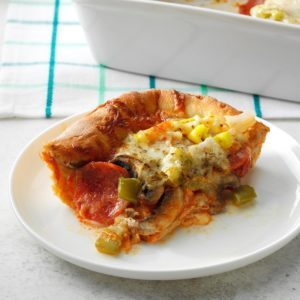 Deluxe Deep-Dish Pizza