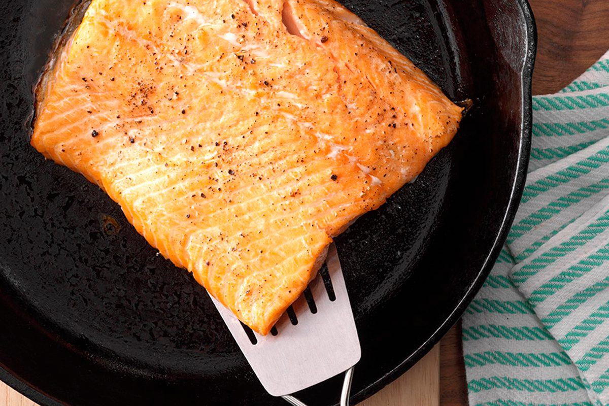 Salmon How-To 4 with hand; remove from skillet