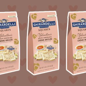 Ghirardelli's White Chocolate Crème Brûlée Squares Are BACK for Valentine's Day