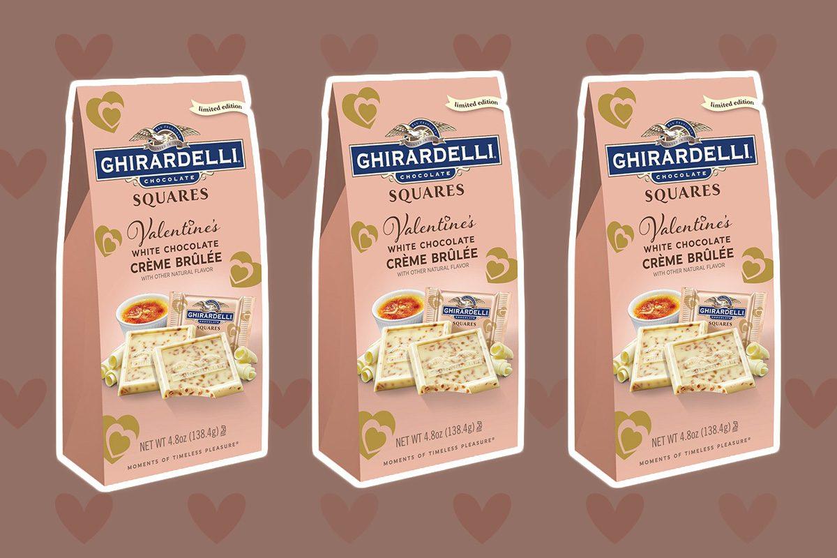 ghirardelli white chocolate creme brulee squares